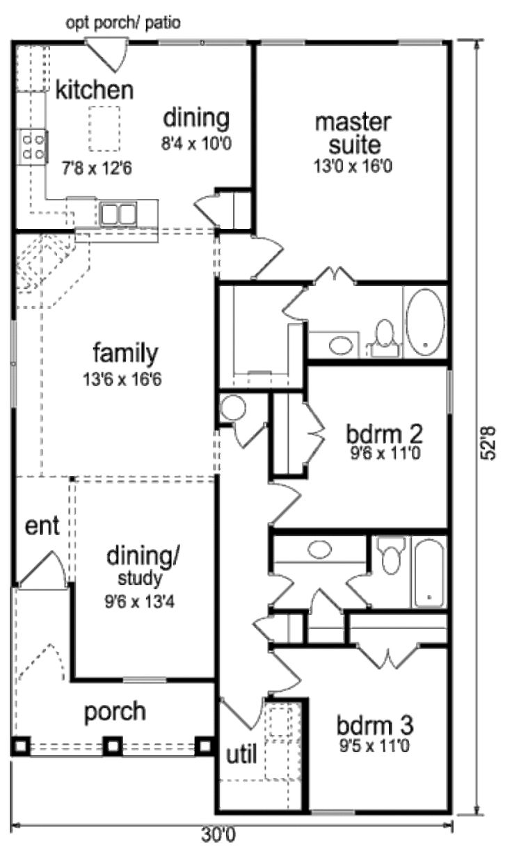 484 best simple floor plans images on pinterest small houses this ranch design floor plan is 1430 sq ft and has 3 bedrooms and has bathrooms