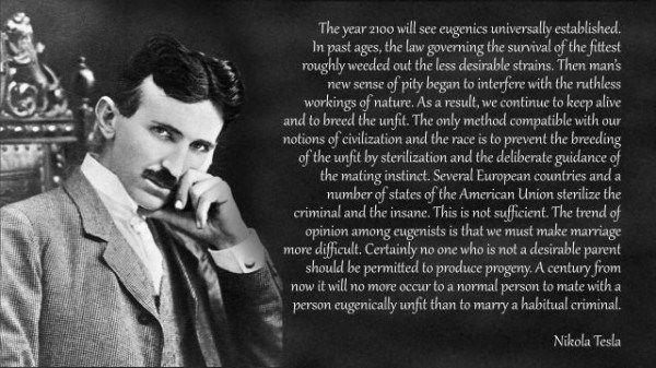 nikola tesla eugenics