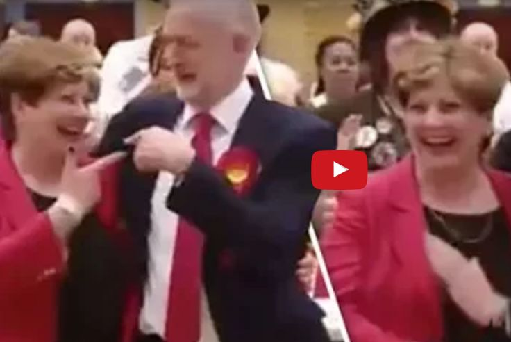 UK Election: The Embarrasing Moment Jeremy Corbyn Accidentally Hits Emily Thornberry's Brast [VIDEO]