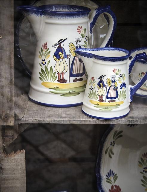 Faïence de Quimper in Dinan, Brittany, France...love Quimper ware!!