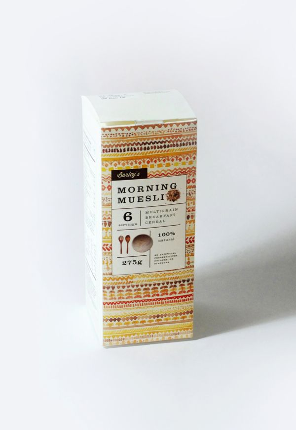 Muesli Packaging by Khyati Trehan, via Behance
