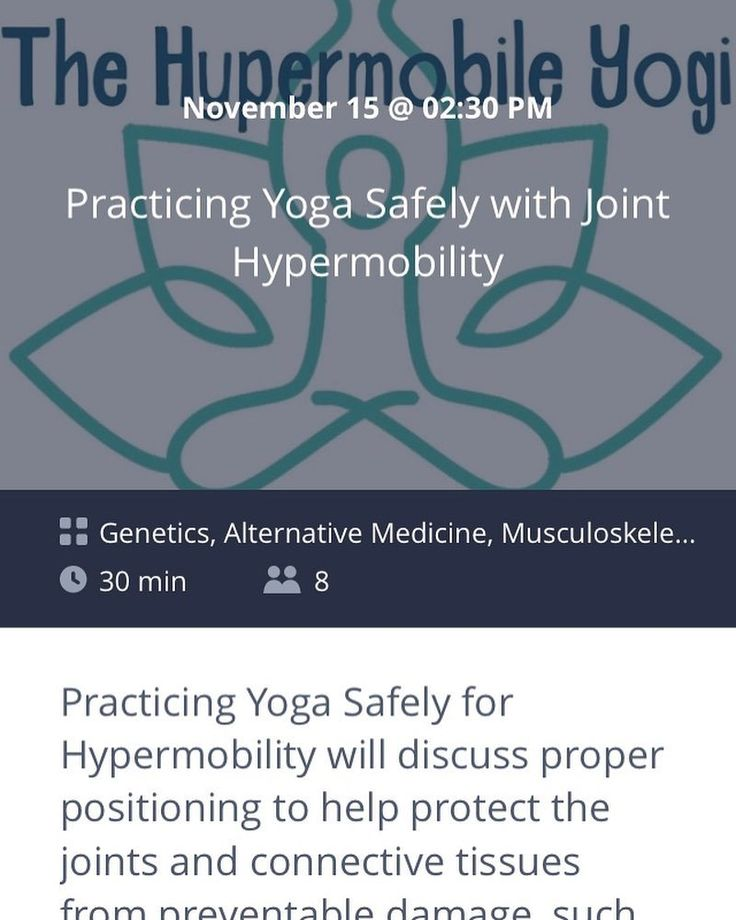 "RP @edswellness - Please join us November 15th at 02:30 PM EST via @ZubiaLive!  This live broadcast ""Practicing Yoga Safely with Joint Hypermobility"" can be viewed on ZubiaLive using your desktop (http://ift.tt/2iW81FB) or through the easy iPhone application (not currently available on Android devices) http://ift.tt/2zHpCJr. iPhone users can also interact with the host in real-time. Live broadcasts via Zubia can be public or private -- options I was looking for.  Wednesdays broadcast is an…"
