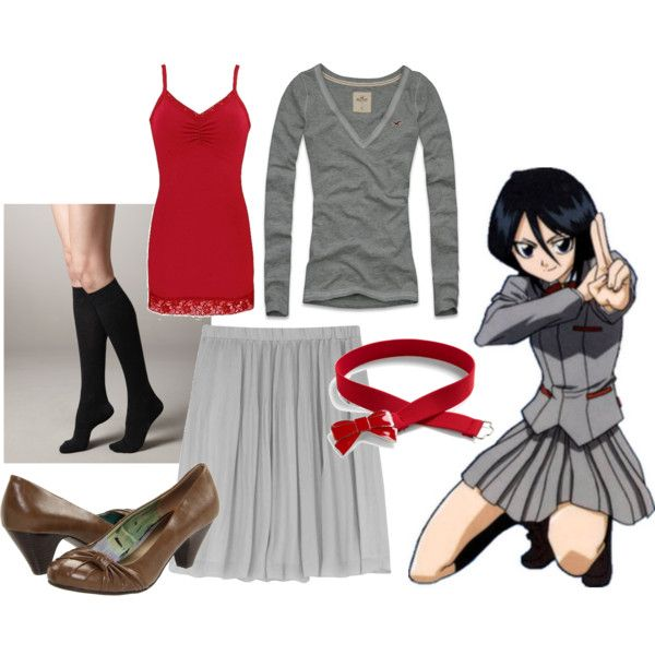 """""""Rukia"""" by catloverd on Polyvore   Cosplay outfits, Casual ..."""