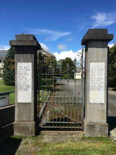 War Memorial Gates at Gore High School - Historypin | Walking with an Anzac