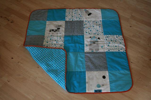 Babytæppe - patchwork - Space