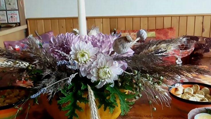 Jana Melas Pullmannová: Jesenná váza z tekvice