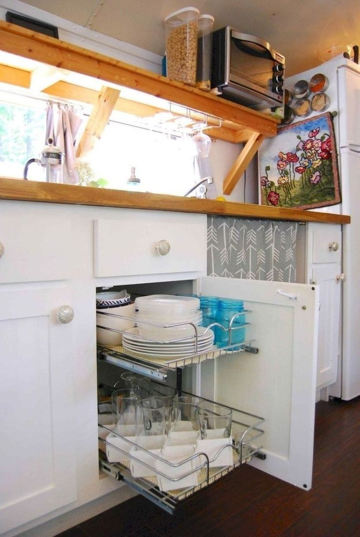 25 Clever Rv Hacks Storage Solution For Space Saving In 2020 Remodeled Campers Rv Living Organization Rv Storage Solutions