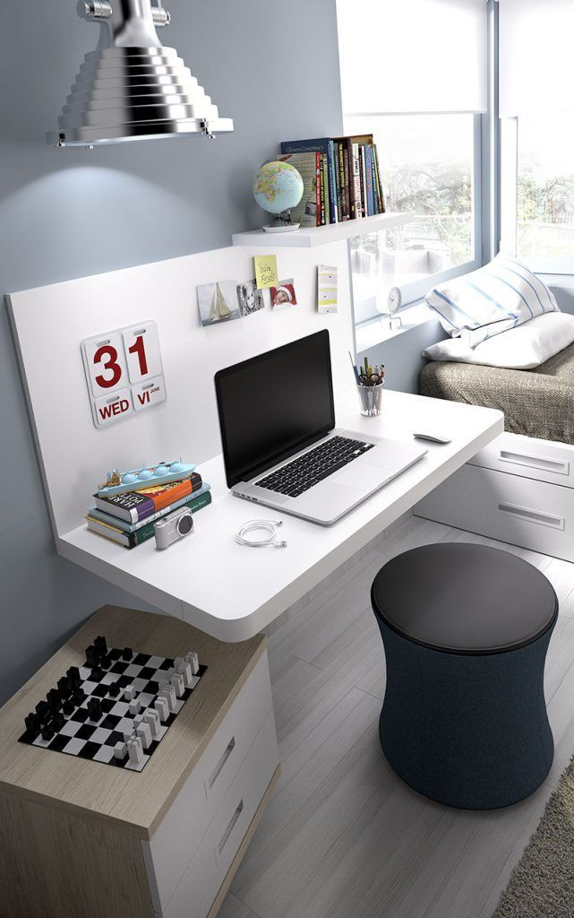 Dormitorio juvenil con zona de estudio (237 – J7) - Muebles CASANOVA #homedecor #decoration #decoración #interiores