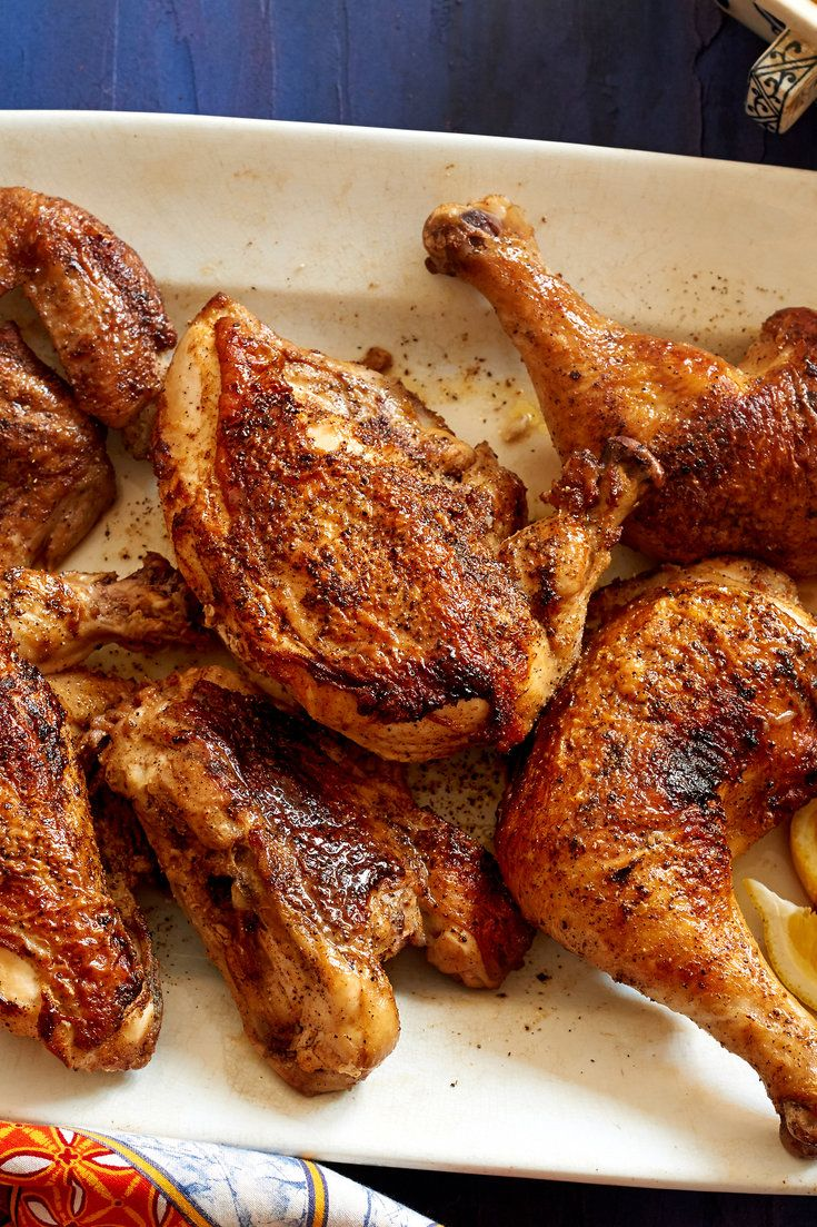 NYT Cooking: Ruth Reichl developed this crispy, spicy chicken after eating pollo alla diavola at Lupa restaurant in New York. The actual cooking time is short, but the recipe does require making the chile oil in advance and marinating the chicken. She suggests buying hot chile oil if you are in a hurry. Be careful