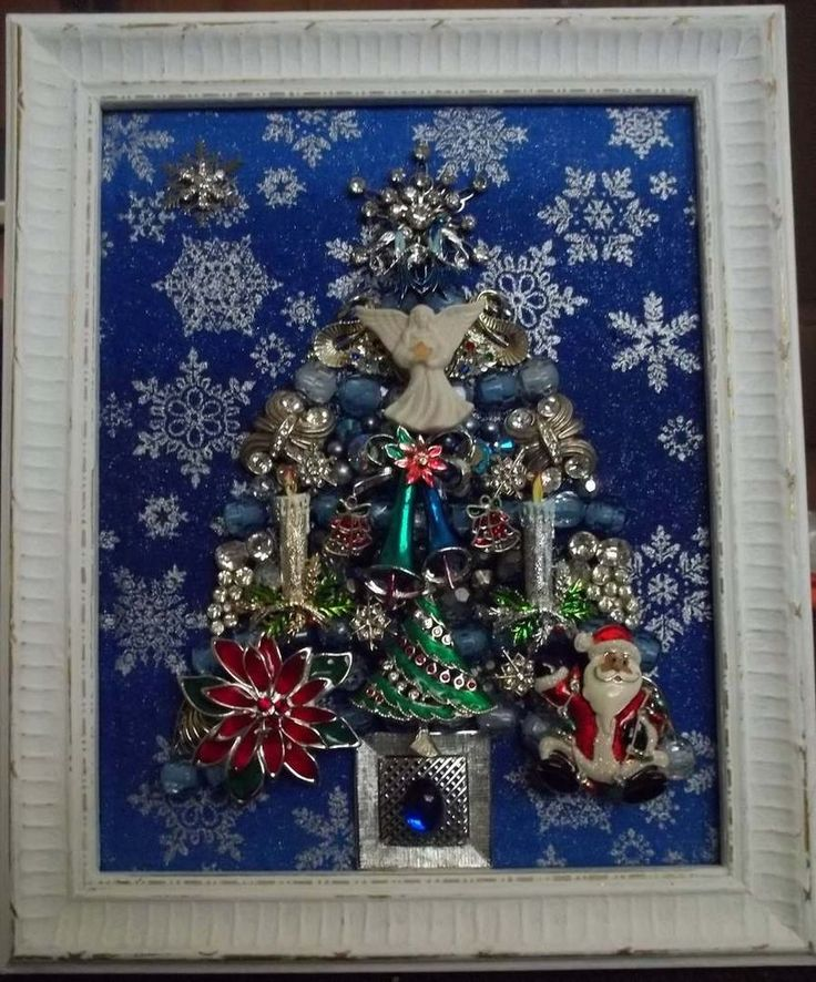 Jewel Christmas Tree Decorations: 220 Best Framed Jewelry Christmas Tree Images On Pinterest