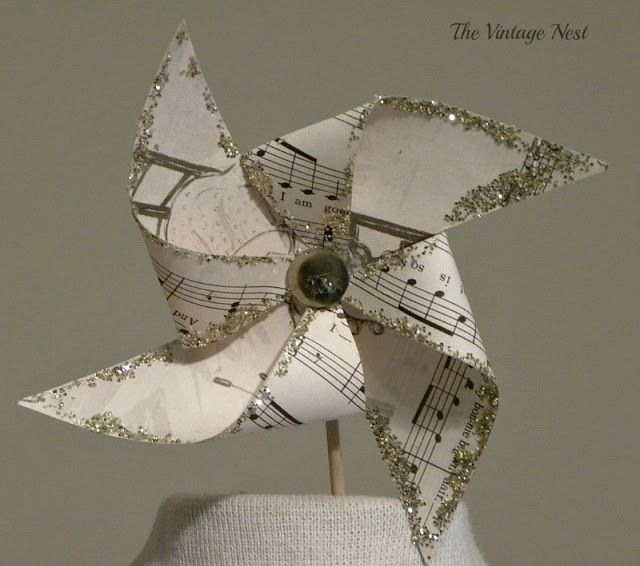 Livable Whites: just the beauty of using music sheets in paper crafts