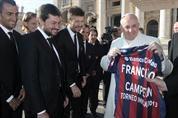 El papa Francisco recibió a la delegación de San Lorenzo