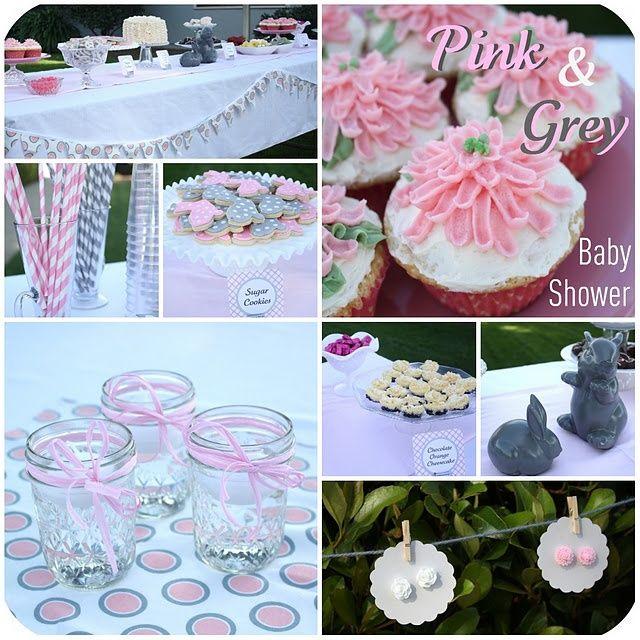 pink and grey baby shower pink and grey baby shower parties pink