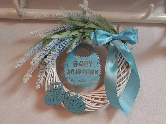 Check out this item in my Etsy shop https://www.etsy.com/listing/561693908/baby-mubarak-wreathaqiqah-giftbaby