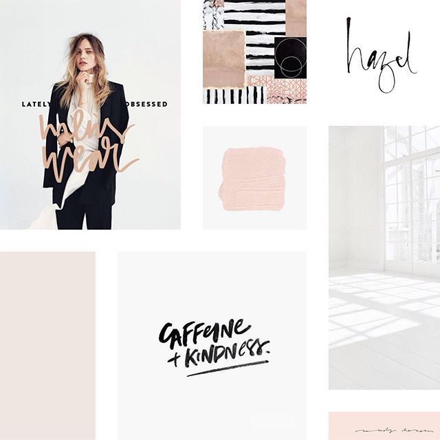 I love the clean and modern style of this client mood board! I'm always a sucker for simplicity and lots of white space.
