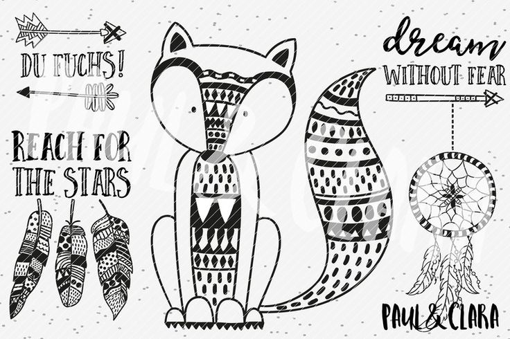 Weiteres - Plottervorlage Boho Fuchs - ein Designerstück von paulundclara bei DaWanda