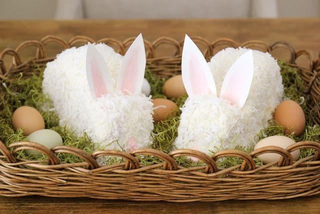 Diy coconut bunny cake