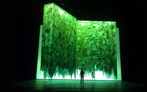 Walt Spangler. Basic. Green mossy looks melting. Few definite lines. Expressionism.