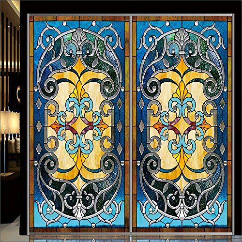 Best Window Film Images On Pinterest Decorative - Stained glass window stickers amazon