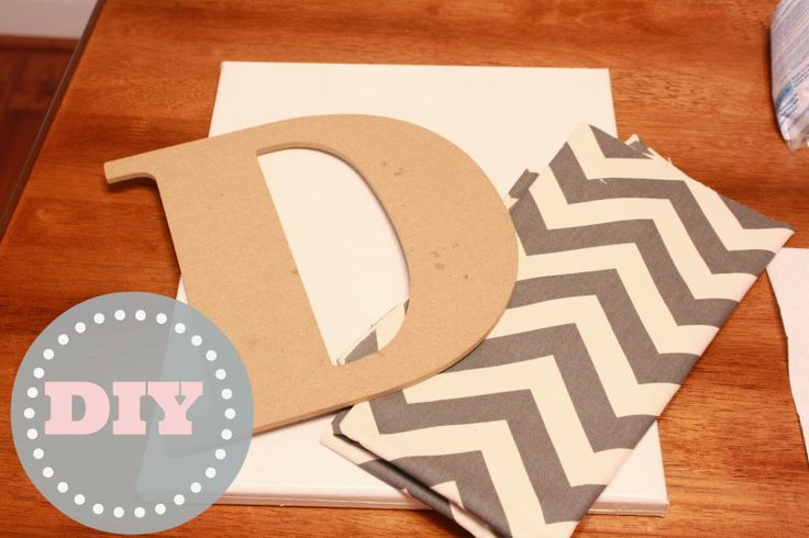 Chevron Canvas Monogram - The Diary of a Real Housewife