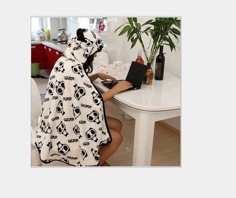 ==> [Free Shipping] Buy Best Japan Anime Kawaii Cosplay bear Hooded Thick Cape Cloak Wraps Air Condition Shawl Lounged Blanket Online with LOWEST Price | 1517170598