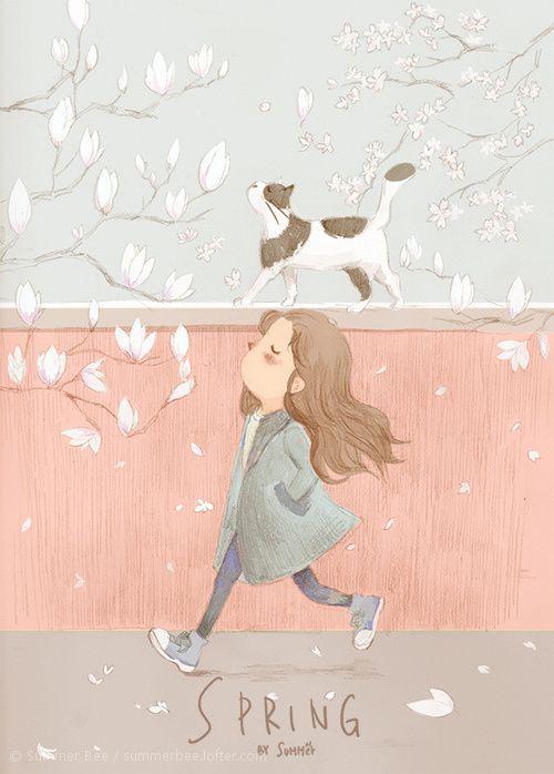 Pretty Things: Ilustrações fofas e com gatinhos!