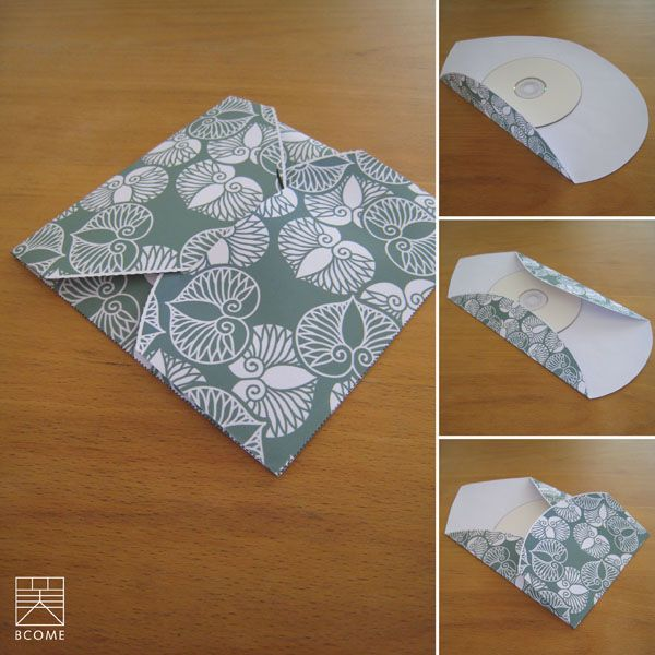 Stitched Chipboard CD Cases - so beautiful! Want! Packaged Up - compact cd envelope template