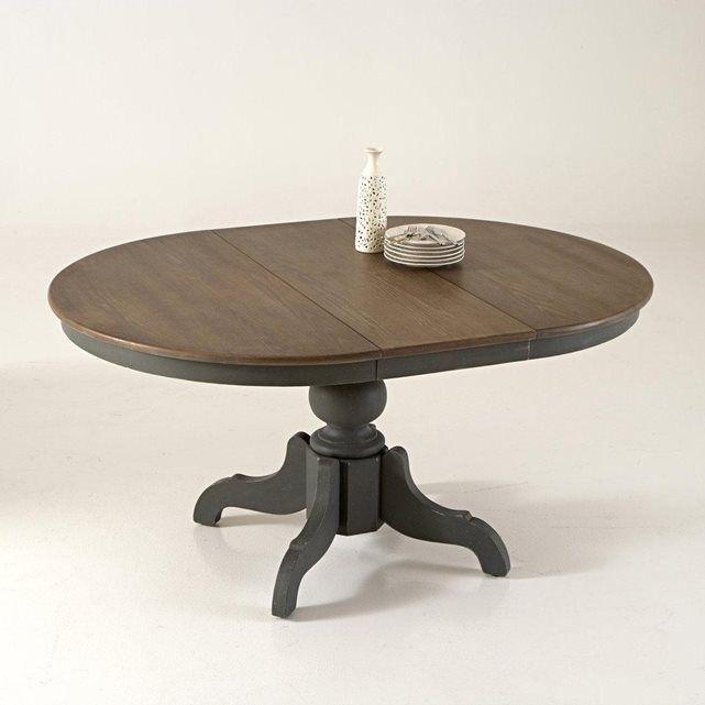 image Table à allonges 4 à 8 couverts, pied central patinée Eulali La Redoute Interieurs