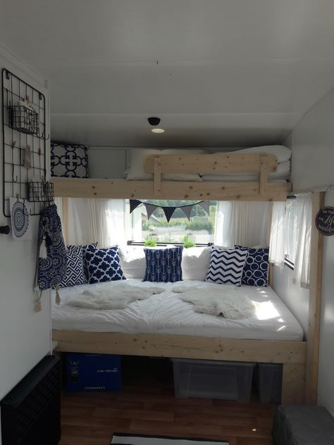 With a camper Ina and her husband had …