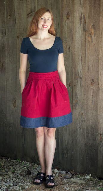 #mmmay15 Nettie bodysuit and Deer and Doe Chardon skirt