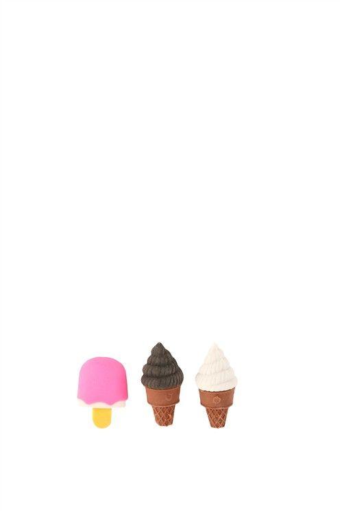 novelty eraser pack ICE CREAM CONES
