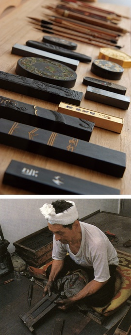 japanese ink sticks | The ink stick and its qualities are described with practical ...