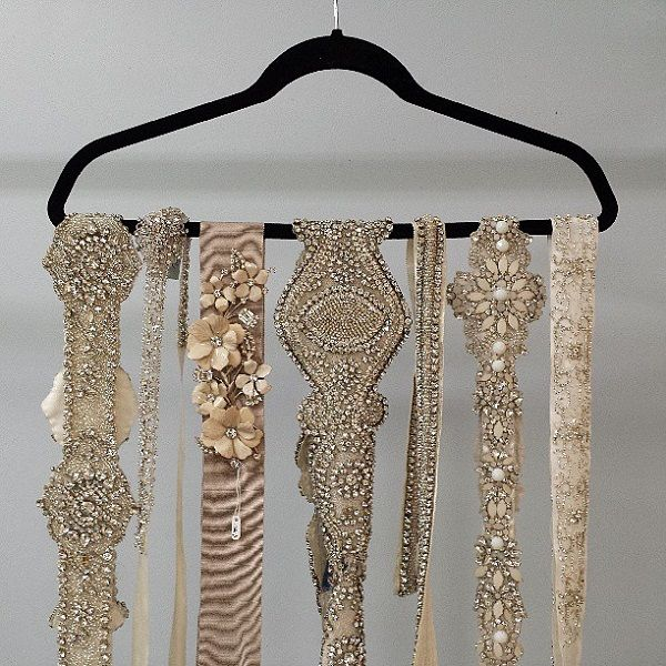 The Art of the Waist: Wedding Sashes, Belts, and More - Wedding Party