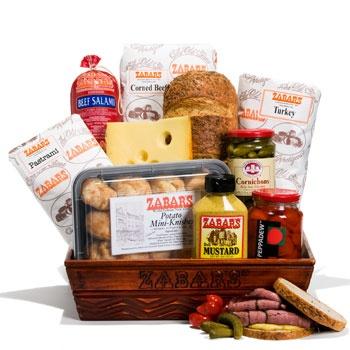 ZABAR'S GIFT BASKETS! NEW YORK CITY ZABAR'S DELI | Baskets Yummies.... | Gift baskets, Basket, Gifts
