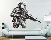 Call of Duty Black OPS II Vinyl Wall Art Decal  sons room decor