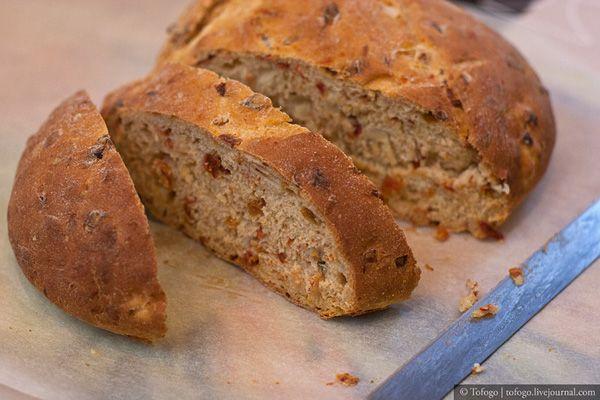 Хлеб с луком и сушеными помидорами - Tofogo's Night Bakery