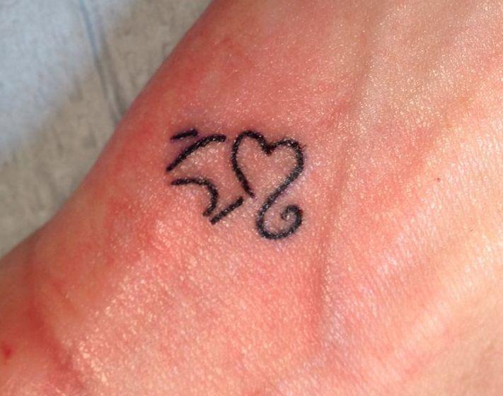 Simple elephant head tattoo - photo#13