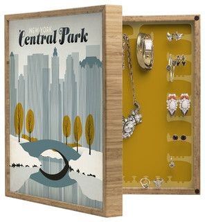 Anderson Design Group Central Park Snow BlingBox Petite - Contemporary - Storage Boxes - by DENY Designs