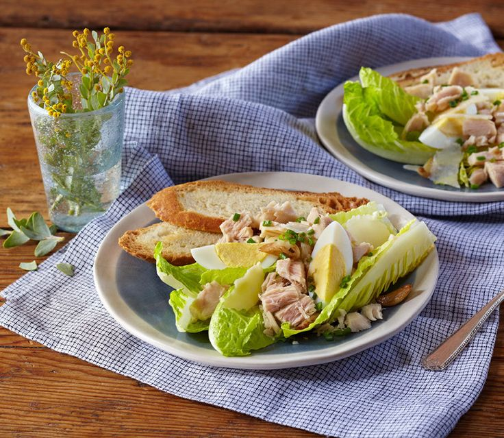 Get into something more comfortable. De-stress with a little Deconstructed Tuna Caesar Salad. Top with quality croutons from a fine foods store and indulge.