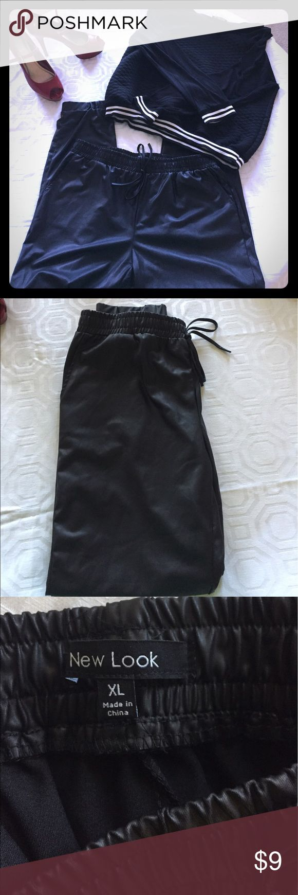 Faux leather joggers Faux leather joggers Pants Track Pants & Joggers