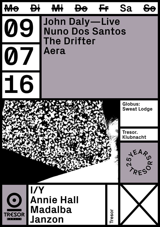 TRESOR CLUB, BERLIN—JULY 16A selection of monthly artwork - Vanja Golubovic