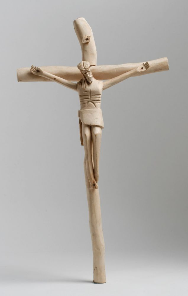 New Mexican Wooden Cristo-Santos-Crucifix / Possibly by George Lopez / Southwest