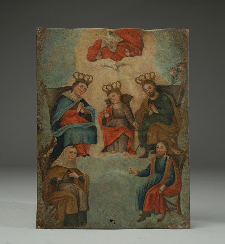 Retablo Holy Family-perfect mix of folk art and religious art