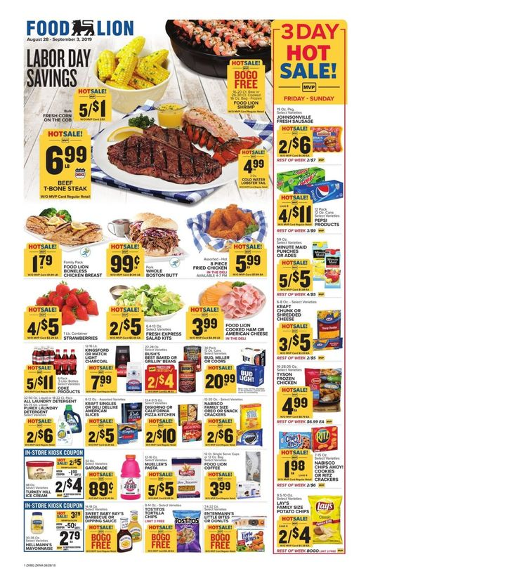 Food lion weekly ad preview august 28 september 3 2019