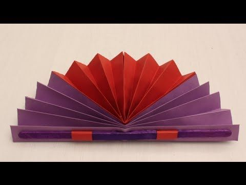 How to make a Chinese Fan - Arts & Crafts - YouTube