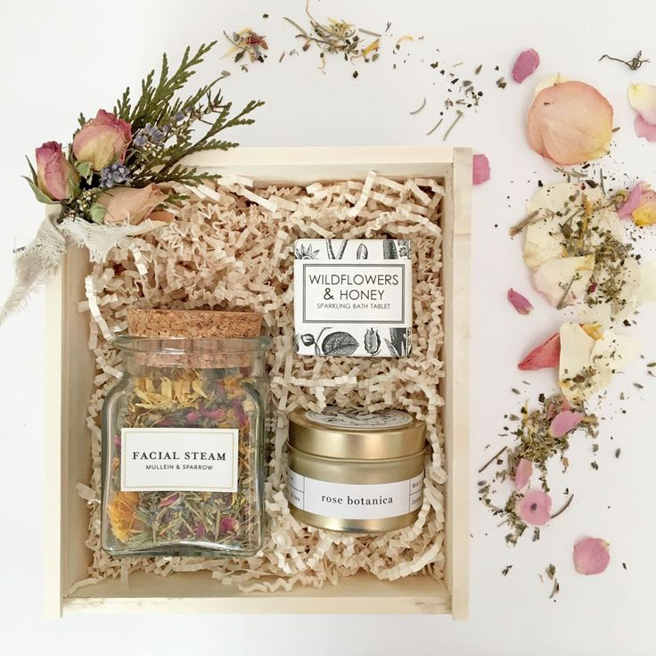 Loved and Found Wildflowers Box. Spa Gift Box for Her. Curated Gift Box. Bridesmaid Gift Proposal