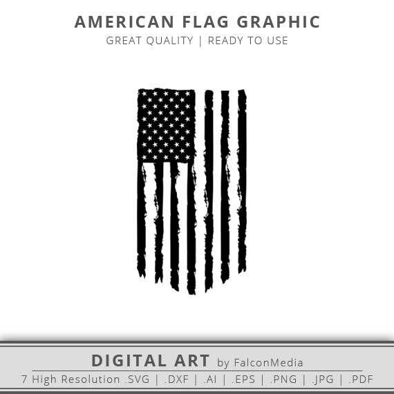Distressed American Flag SVG – United States Flag SVG – Old Glory SVG – American Flag – Instant Download – Cricut – Cameo – Vector Art