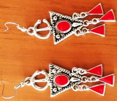 Buy Moroccan style Red earringsfor R40.00