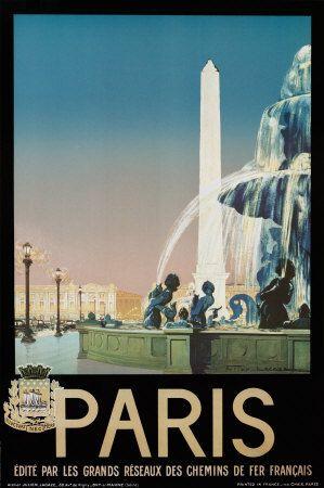 Paris - France - Poster - Affiche