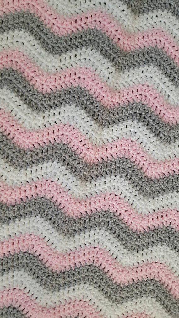Ganchillo manta de ondulación ganchillo bebé por StaceyRoseCrochet